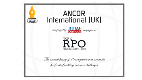 ANCOR is The Leader of Top 10 RPO Firms in Europe 2020